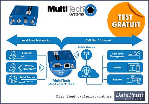 routeur 3G+ Multi-Tech MultiConnect rCell distribué par DataPrint