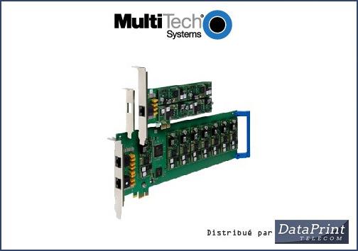 carte multi-modems analogiques Multi-Tech distribué par DataPrint