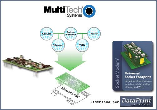 Socket modem MultiTech